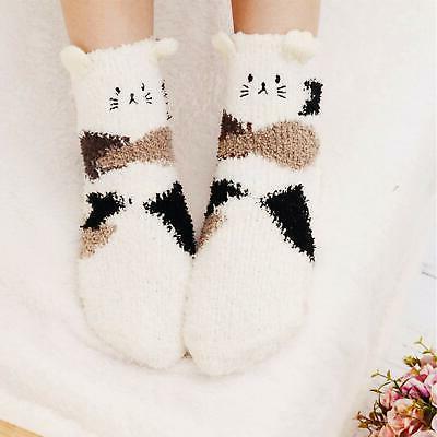 3 Womens Socks Warm Slipper Home Sleeping Cute Socks