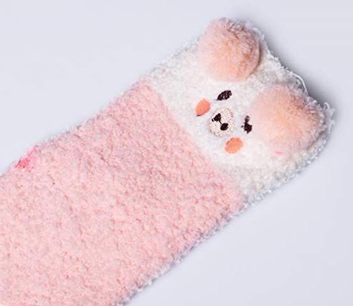 YSense Pairs Super Socks Winter Warm Cute Fuzzy Home