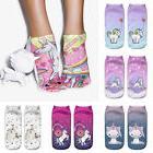 3D Print Cute Unicorn Socks Low Cut Ankle Women Boat Sock Ha