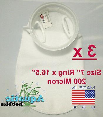 3x filter sock 7 ring x 16