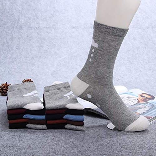 Chalier 4/5 Vintage Style Casual Crew Socks Sock