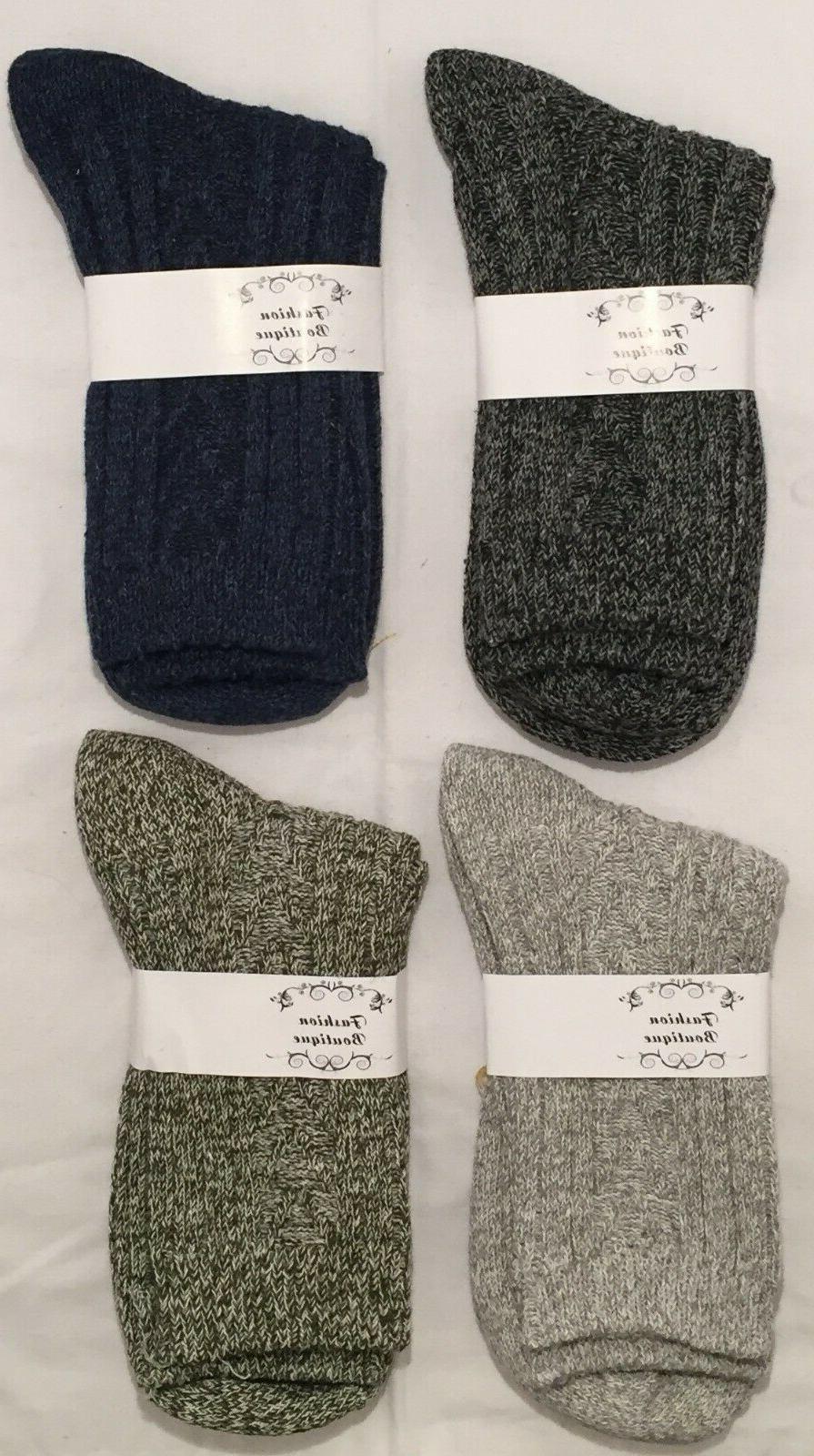 4 pair women s knit wool casual