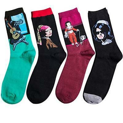 Loritta Womens Famous Painting Socks Printed Funny