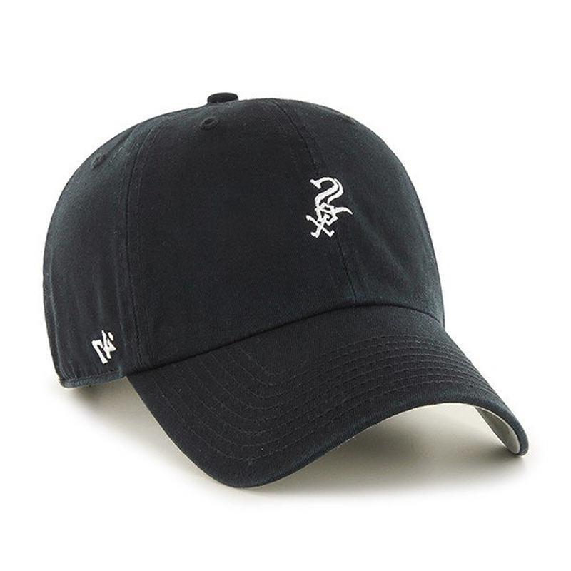 '47 Brand Base Runner Chicago White Sox Adjustable Hat Black