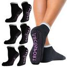 4pk Black Pilates Or Yoga Socks For Women Or Men Pink Nonsli