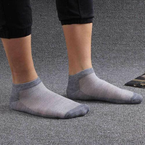 5/10 Pairs Men Socks Summer Cut Crew Sport Cotton Blend