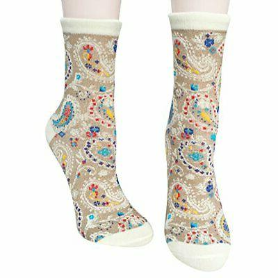 Chalier 5/6 Pairs Womens Funny Patterned Socks Wome