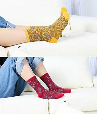 Chalier 5/6 Pairs Funny Socks Patterned Wome