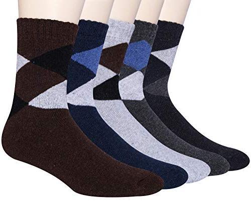 5 pack mens winter soft warm wool