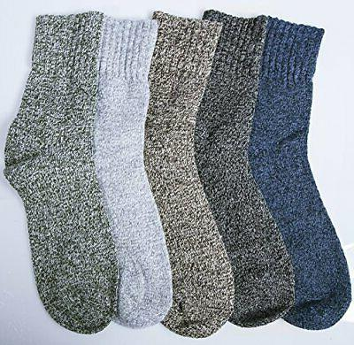 5 Pack Womens Socks Winter Warm Vintage Thick