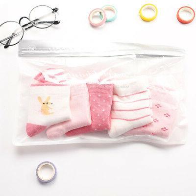 5 Girl Cartoon Socks Newborn Toddler Soft Sock
