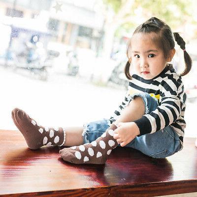 5 Pairs Baby Girl Cartoon Newborn Soft Sock