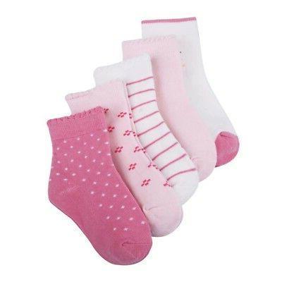5 Pairs Baby Girl Cotton Cartoon Newborn Soft Sock