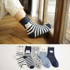 5 Pairs Cartoon Animal Cat Women Socks Cute Animal Ear Cotto