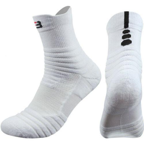 5 Pairs Men's Basketball Socks Crew US