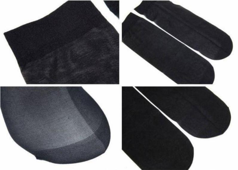 5 Women Nylon Elastic Ankle Stockings Silk USA