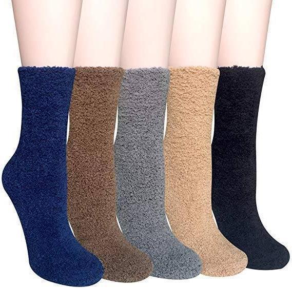5 pairs women warm fuzzy fluffy socks