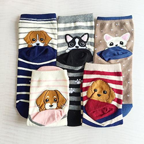 Chalier 5 Pairs Cotton Funny