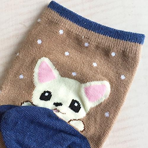 Chalier Pairs Cute Socks Cotton Crew Funny Socks