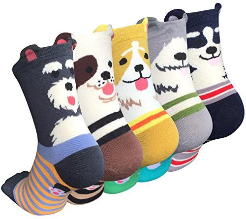 Chalier 5 Pairs Womens Cute Animal Socks Colorful Funny Casu