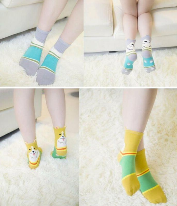 Chalier 5 Pairs Womens Cute Animal Funny Casual Cotton Socks