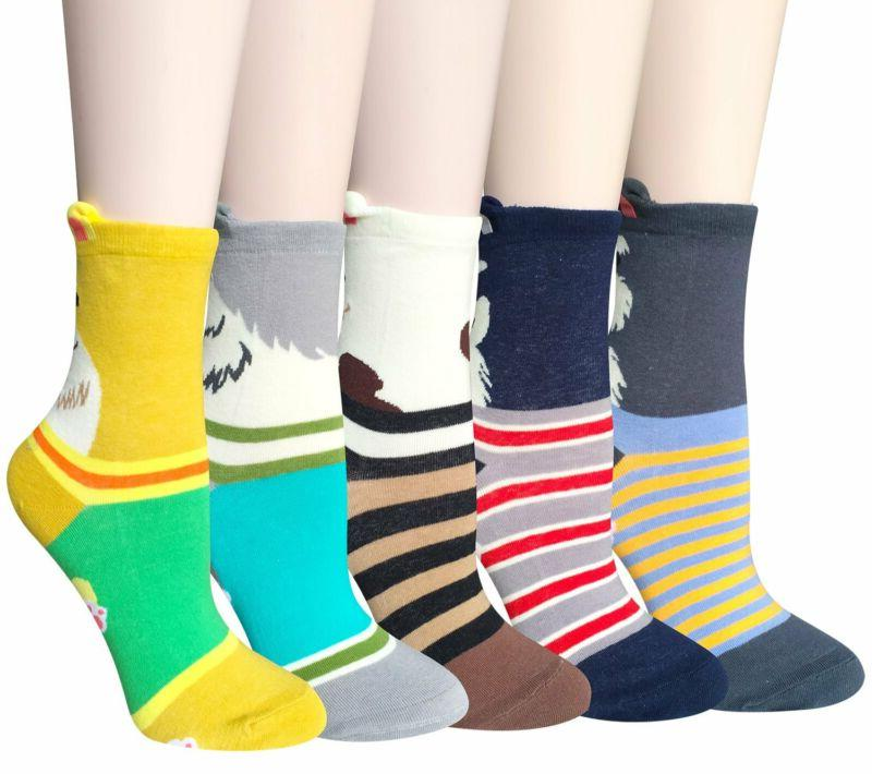 Chalier Cute Animal Socks Colorful Funny Crew Socks