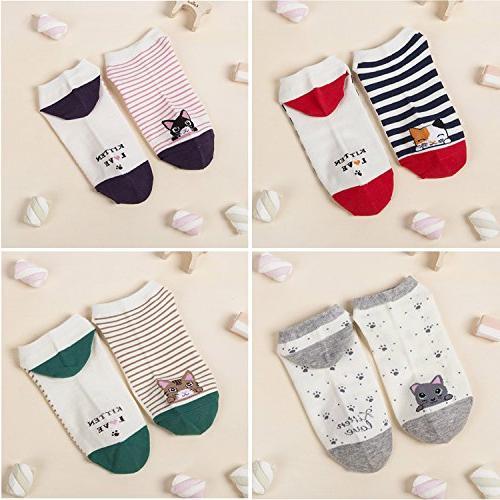 Loritta Cute Ankle Low Cut Colorful Animal Socks