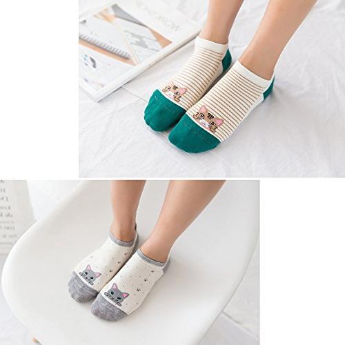 Loritta Cute Cotton Funny Low Socks