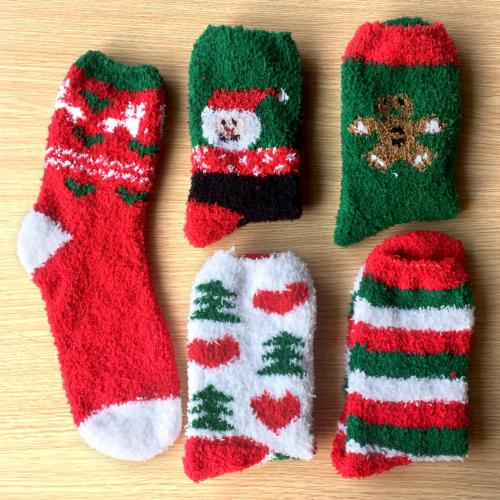 Loritta Pairs Fuzzy Christmas Socks Warm Soft Socks