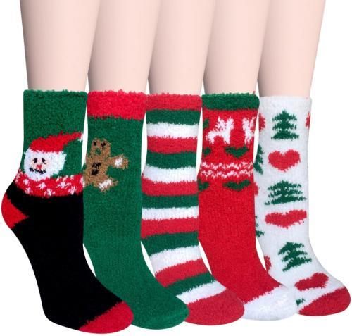 Loritta 5 Womens Fuzzy Soft Cozy Fluffy Socks