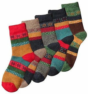 Loritta Pairs Vintage Warm Knit Wool Crew size