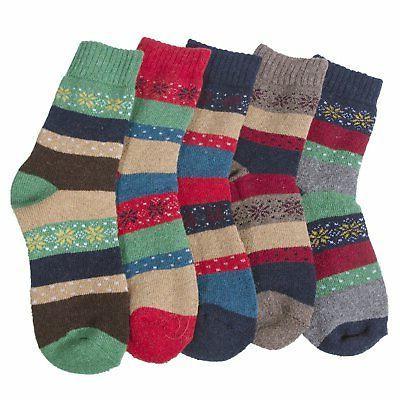 Loritta 5 Vintage Warm Thick Knit Crew