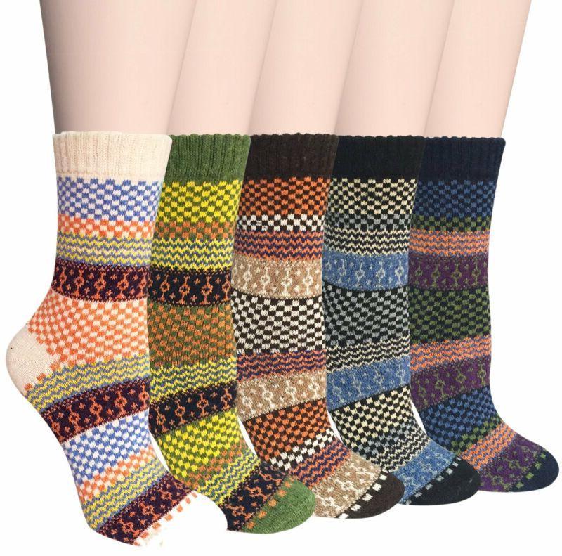 Vintage Style Thick Wool Crew Socks