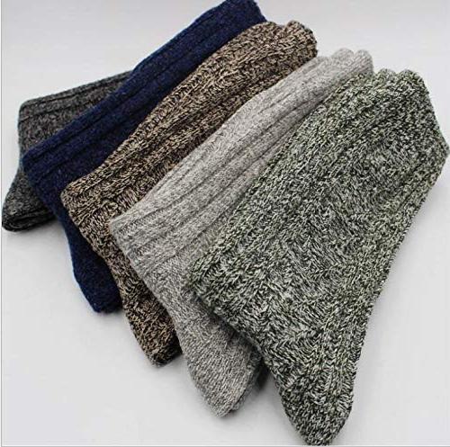 5 Pairs Womens Winter Soft Wool Knitting Cotton Casual