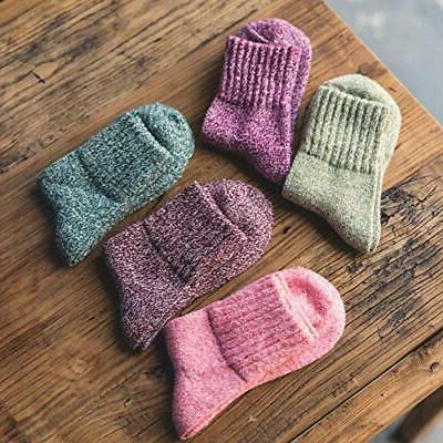 5 Pairs Socks Knit Winter Cozy