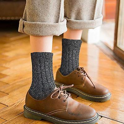 5 Socks Winter Warm Knit Cabin Cozy Crew