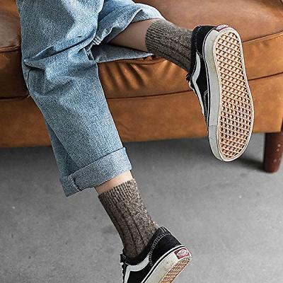 5 Pairs Socks Knit Cabin Cozy Casual Crew Socks A