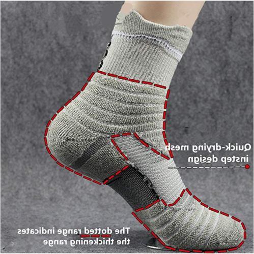 5Pairs Elite Dri-Fit Middle Ankle Socks