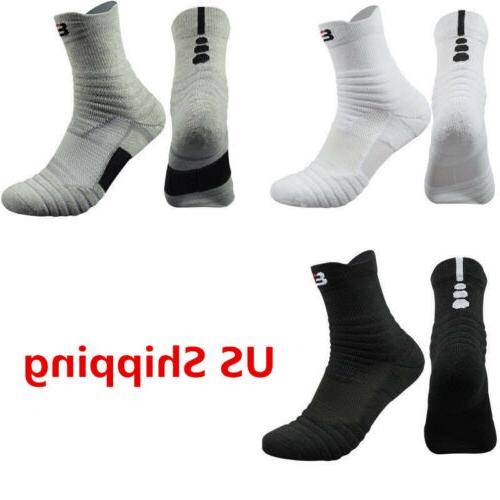 5 Pairs Basketball Socks Dri-Fit Athletic Crew Ankle US