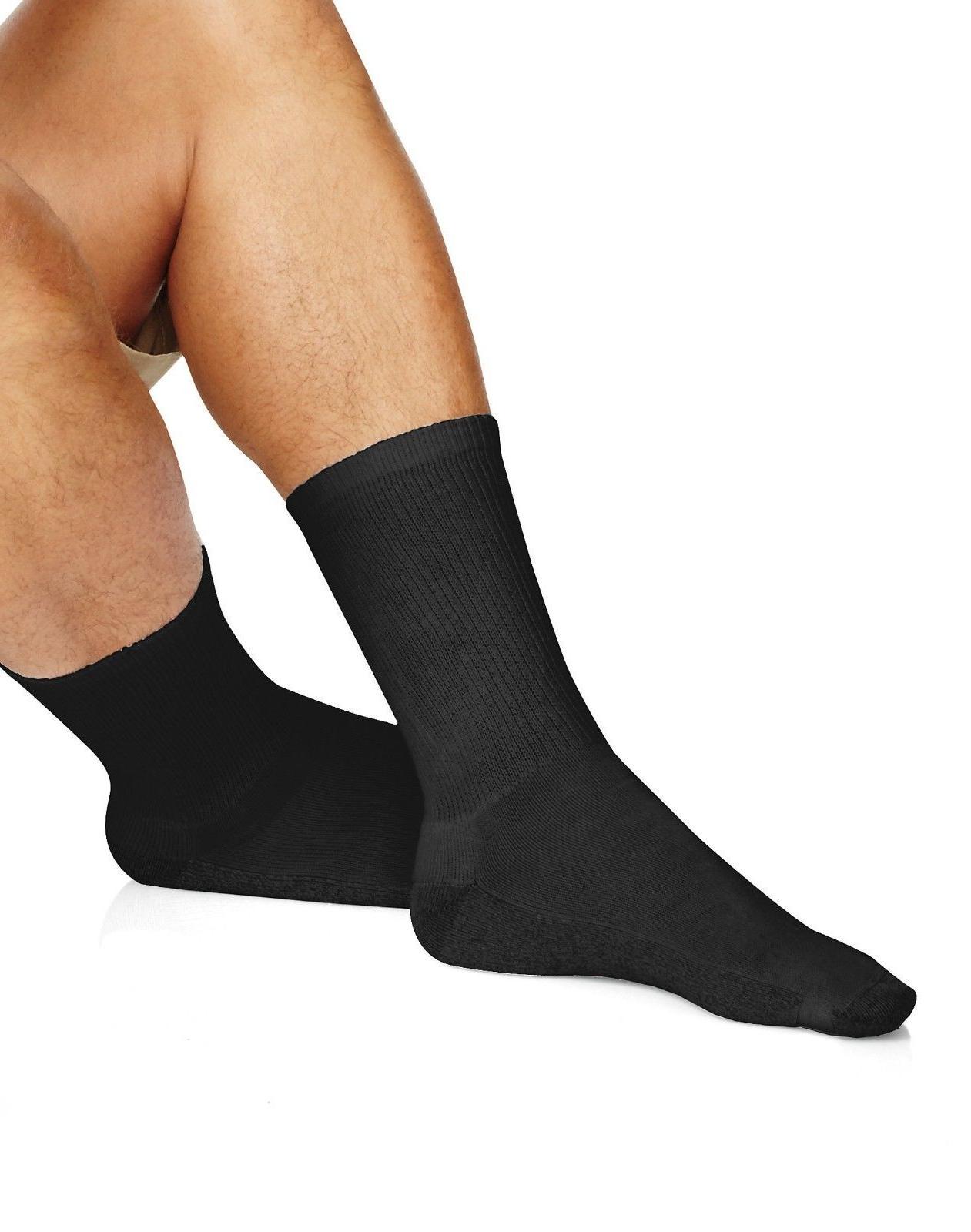 Hanes Crew White Comfort Sock Size Shoe Size 6-12