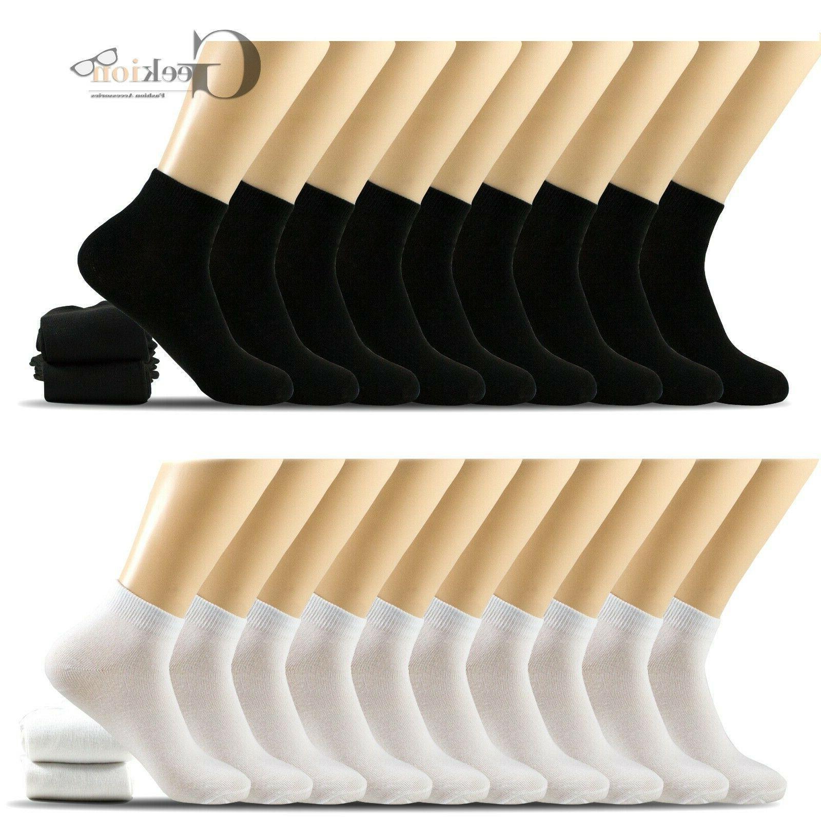 6 12 pairs mens women black white