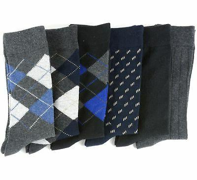 Alpine Swiss Pack Mens Cotton Mid Calf Argyle
