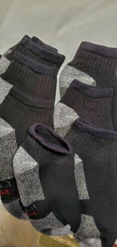 6 Pair Hanes Black HP DRY socks. Men Size 7-9. Seconds. Defe