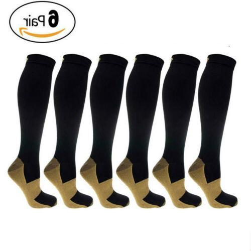 6 pairs compression socks 20 30mmhg graduated