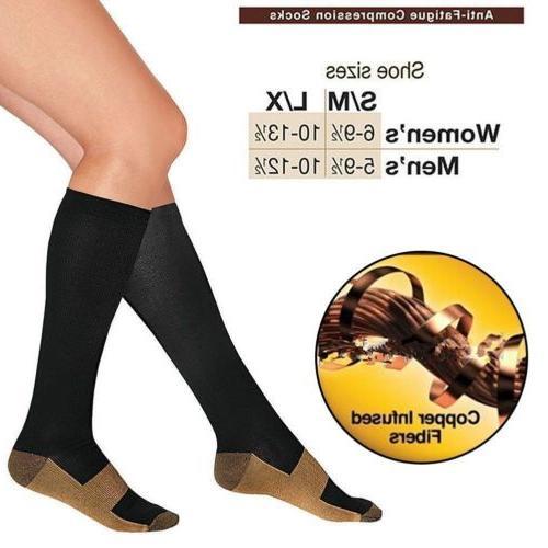 Copper 20-30mmHg Support Womens S-XXL