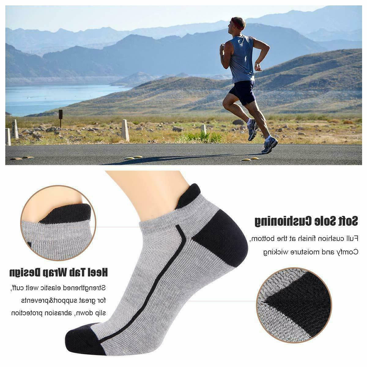 6 Pairs Mens Low Cut Ankle Tab Socks Running