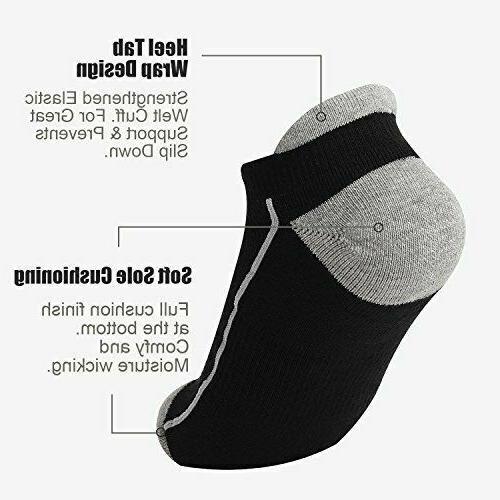 6 Mens Low Cut Ankle Socks Mesh Cushioned Running