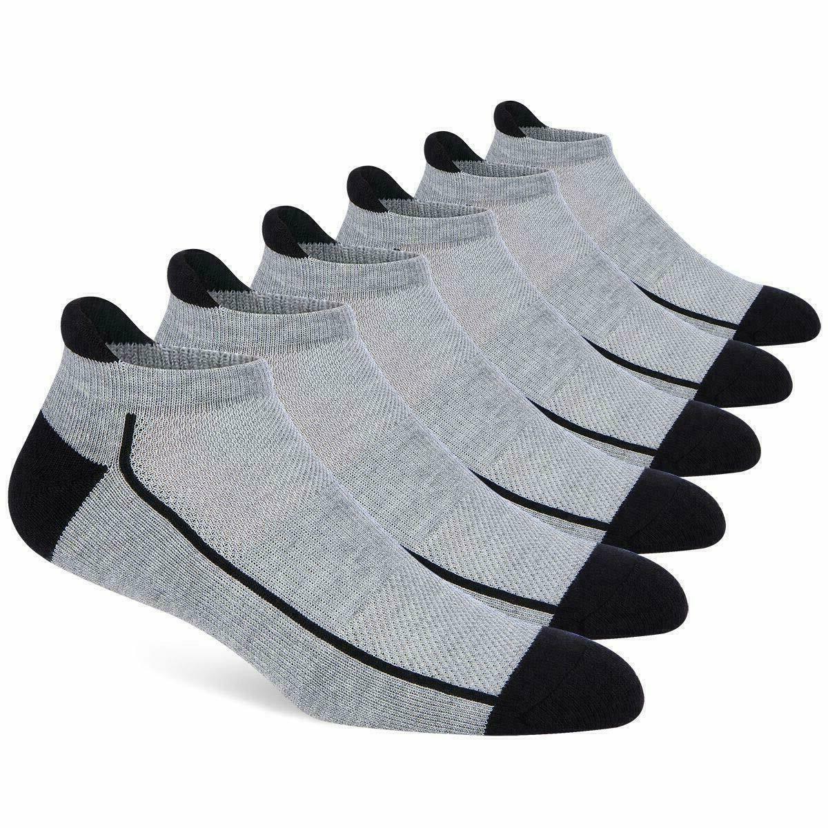 6 Pairs Low Socks Mesh Running