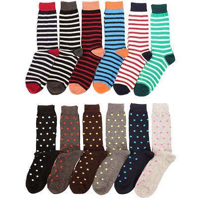6 pairs mens fashion dress socks print