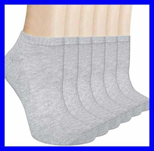 Ankle Socks No Low Cut Short Sport Athletic GREY